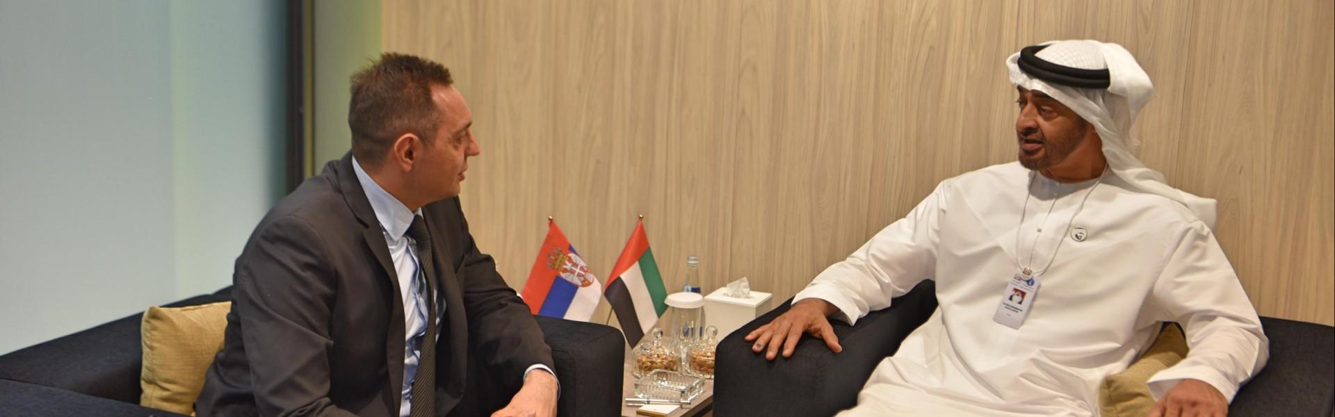 Министар Вулин: Пријатељство председника Вучића и шеика Бин Заједа отворило нам је многа врата у Абу Дабију