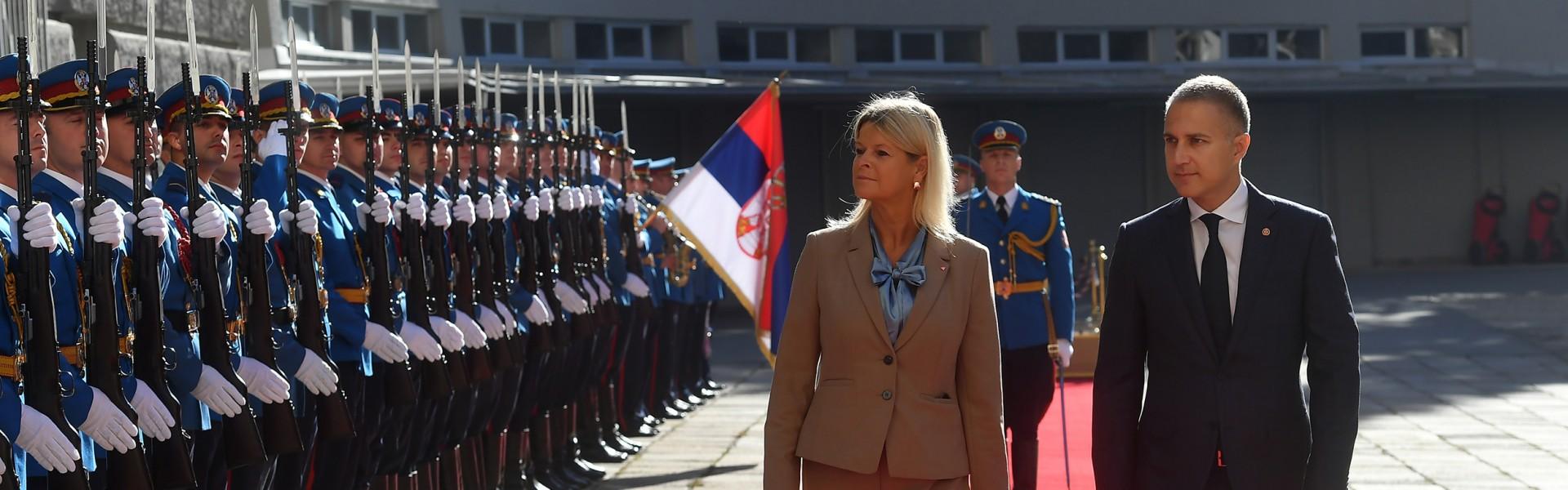 Састанак министра Стефановића и министарке Танер