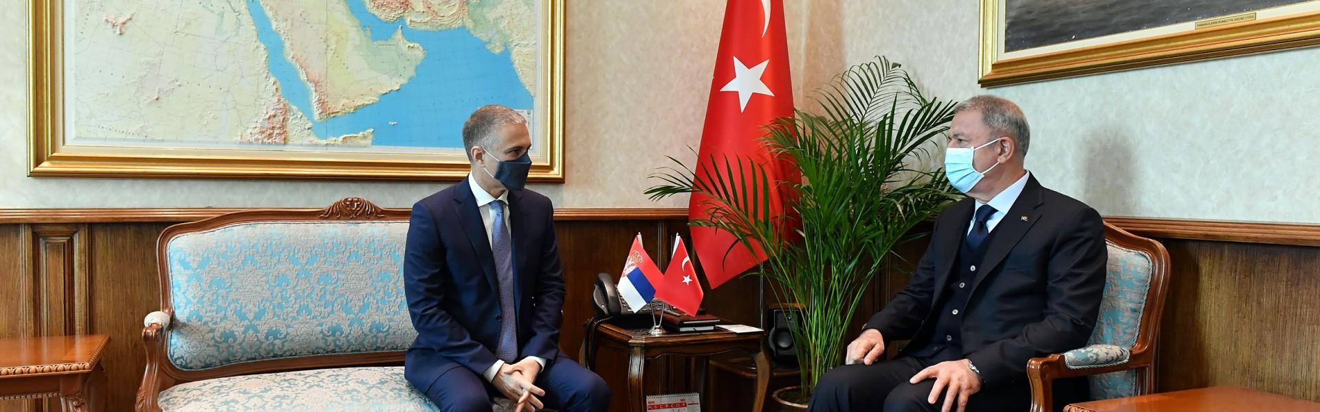 Састанак министара Стефановића и Акара у Анкари