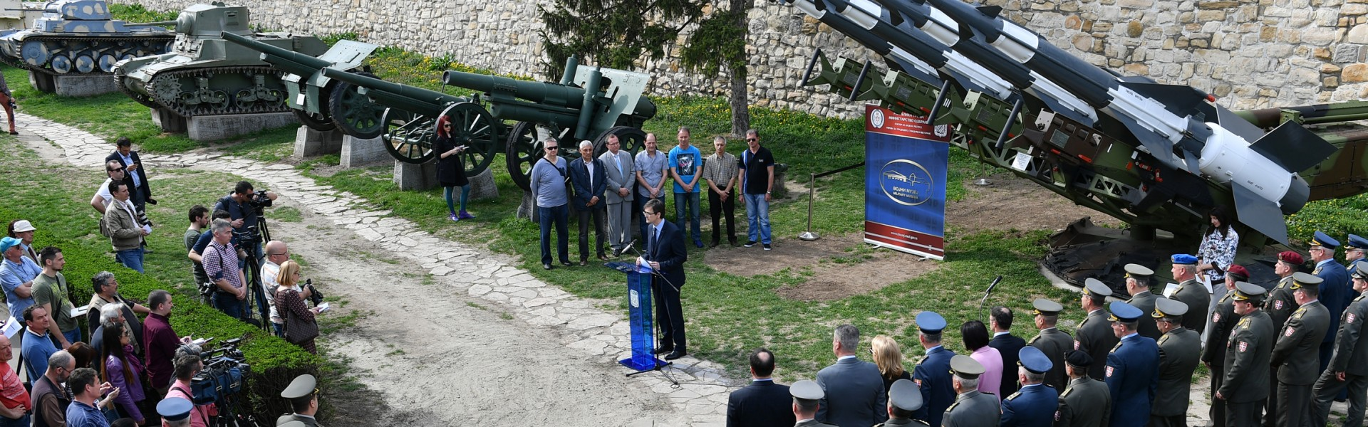 Лансирна рампа и ракете НЕВА за Дан сећања