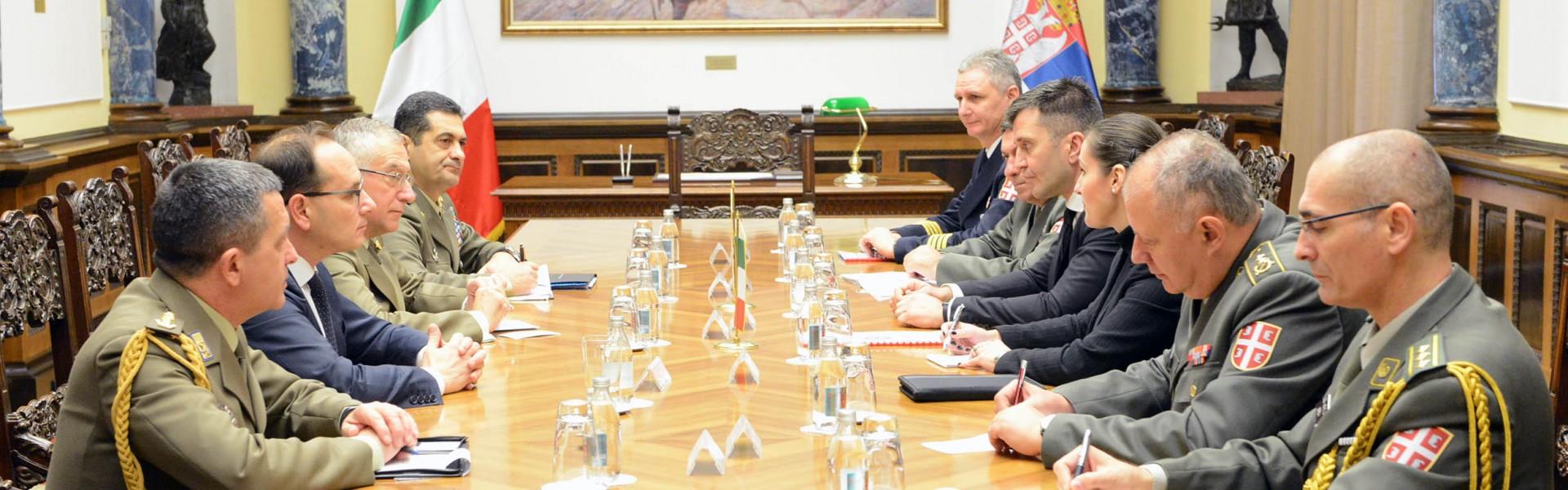 Састанак министра одбране са начелником Генералштаба Италије