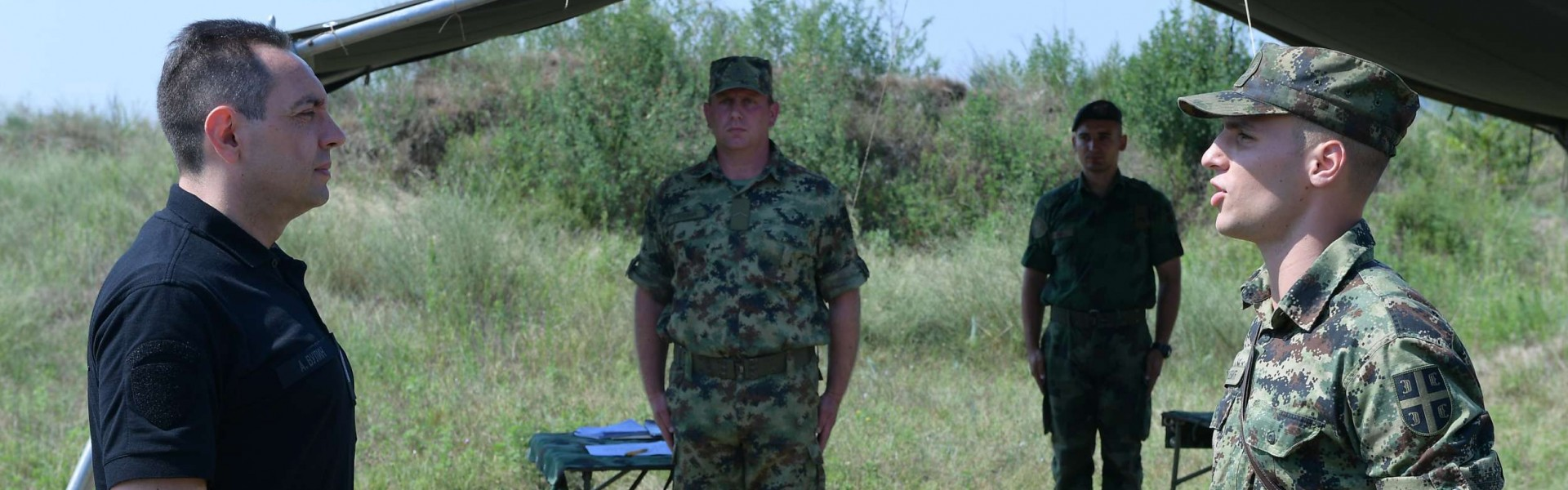 "Unannounced Visit from the Minister of Defence to the Training Ground ""Peskovi"""