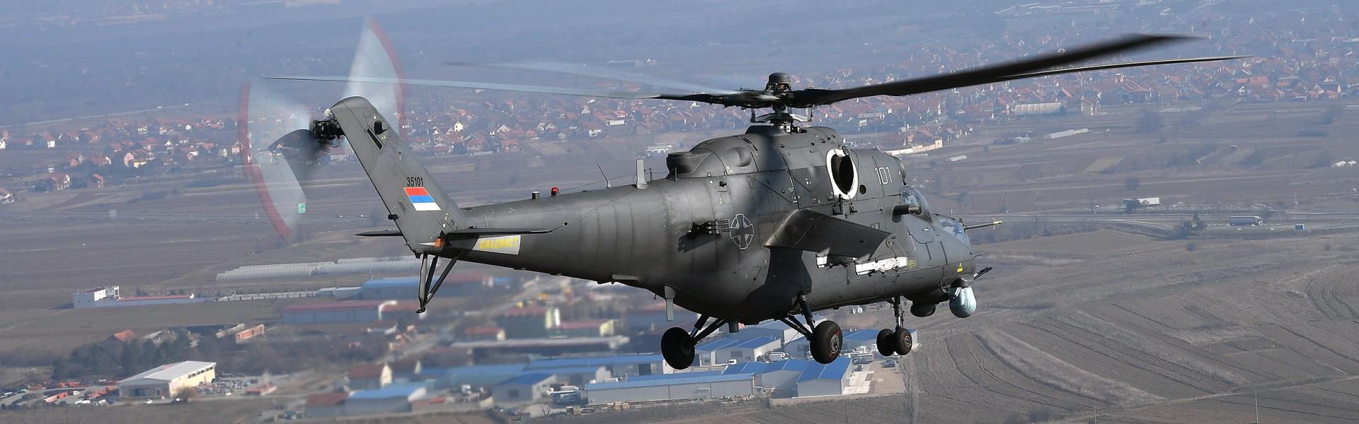 Обука на борбеним хеликоптерима Ми-35