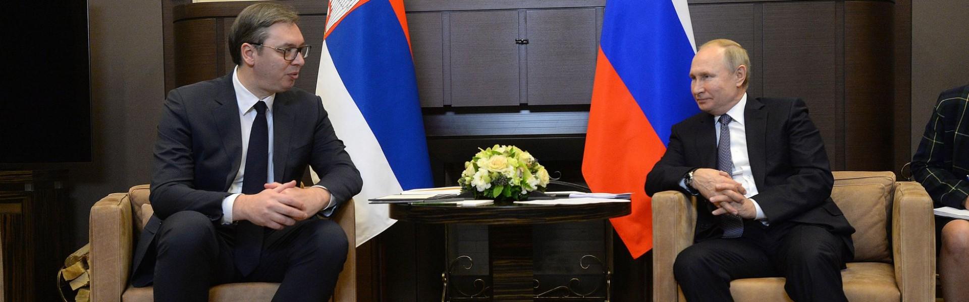 Сусрет председника Вучића и Путина у Сочију