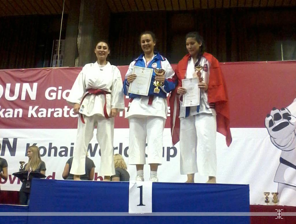 Кадеткиња освојила прво место на светском првенству у каратеу