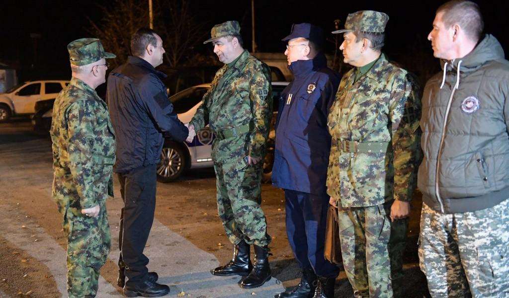 Ministar Vulin obišao zajedničke snage Vojske i Policije
