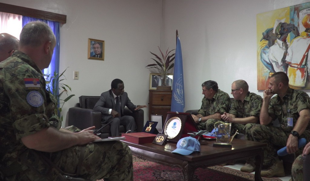 Chief of General Staff completed the visit to our peacekeepers in the Central African Republic
