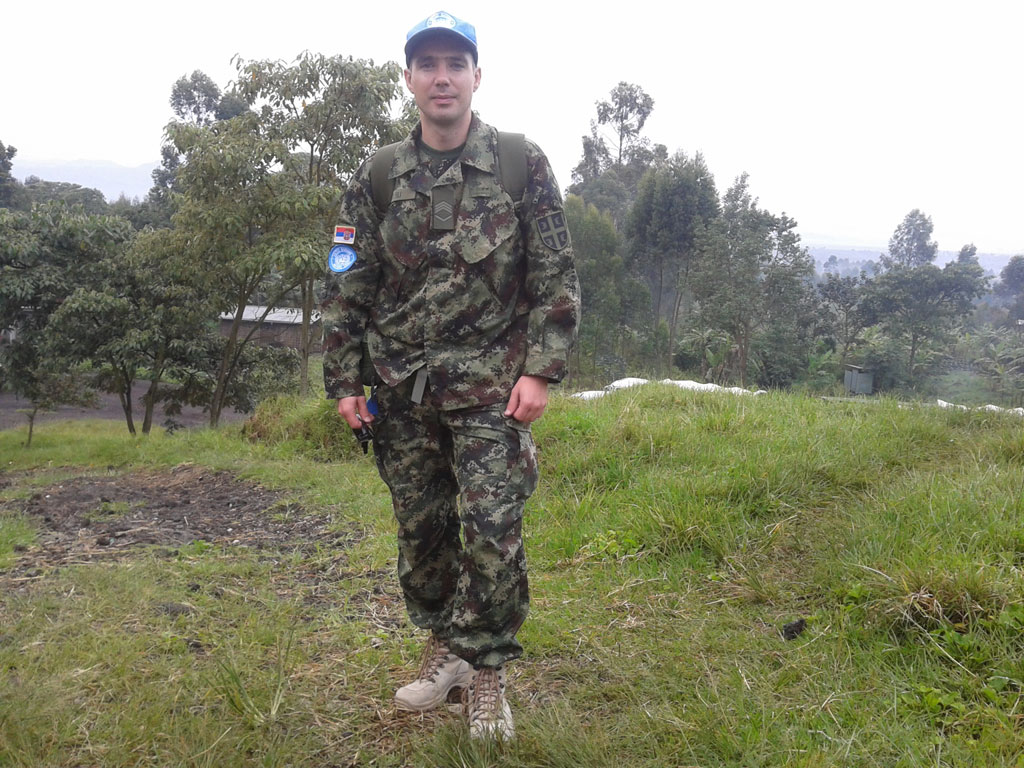 Старији водник прве класе Дарко Сили у мисији УН у Конгу