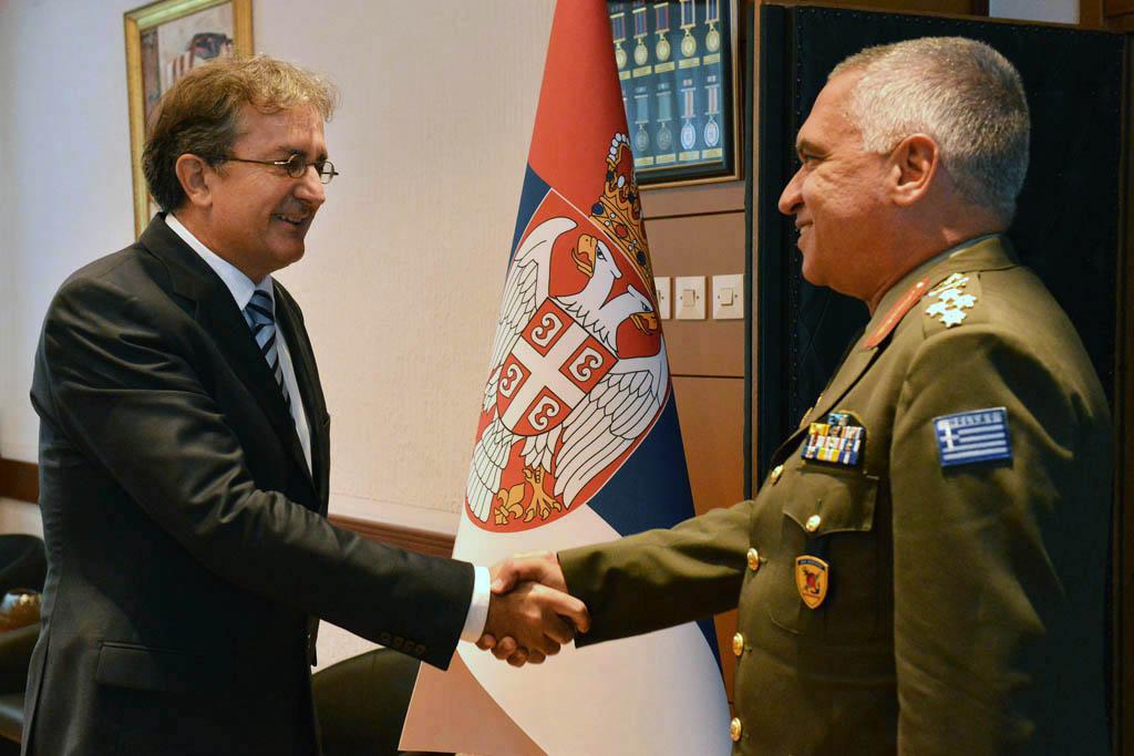 Министар Родић примио начелника Генералштаба националне одбране Грчке