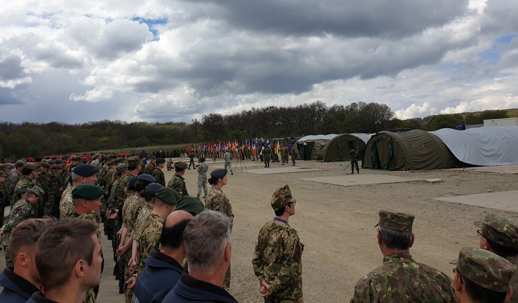 Serbian military medical personnel at the exercise Vigorous Warrior 2019