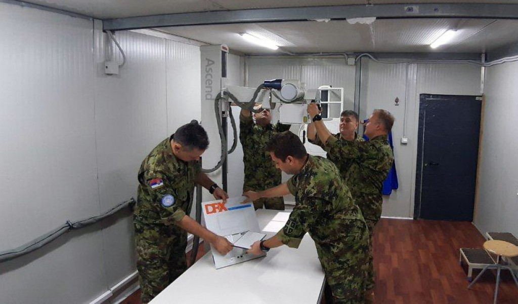 Serbian military hospital in Africa fully autonomous during the pandemic
