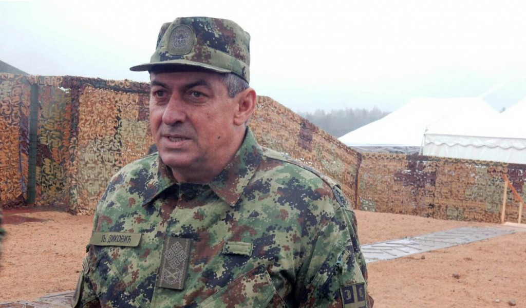 General Diković at the West 2017 exercise in Russia