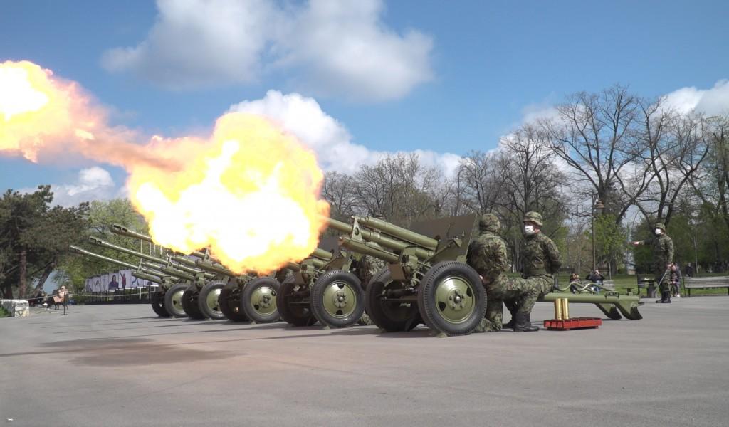 Počasna artiljerijska paljba povodom Dana Beograda