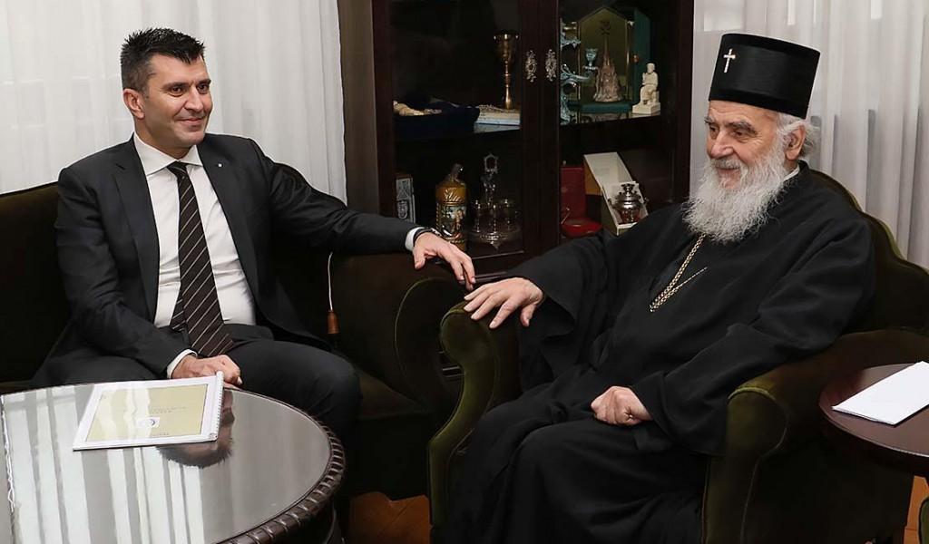 Ministar odbrane kod patrijarha Irineja