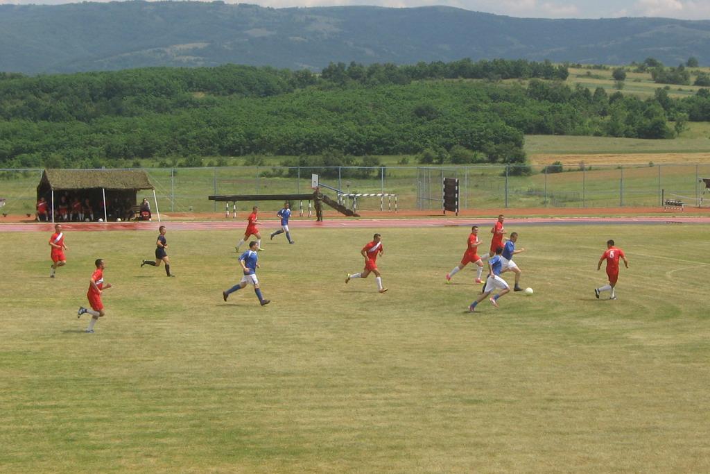 Fudbalska utakmica Vojske Srbije i KFOR