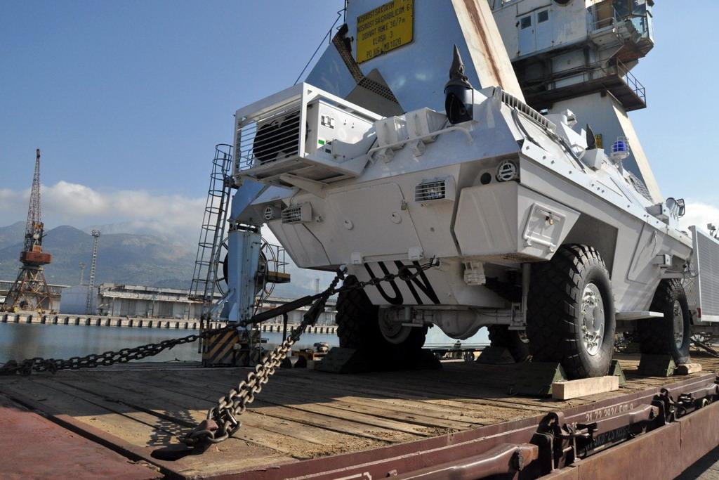 Završena prva faza kombinovanog transporta opreme za UNIFIL