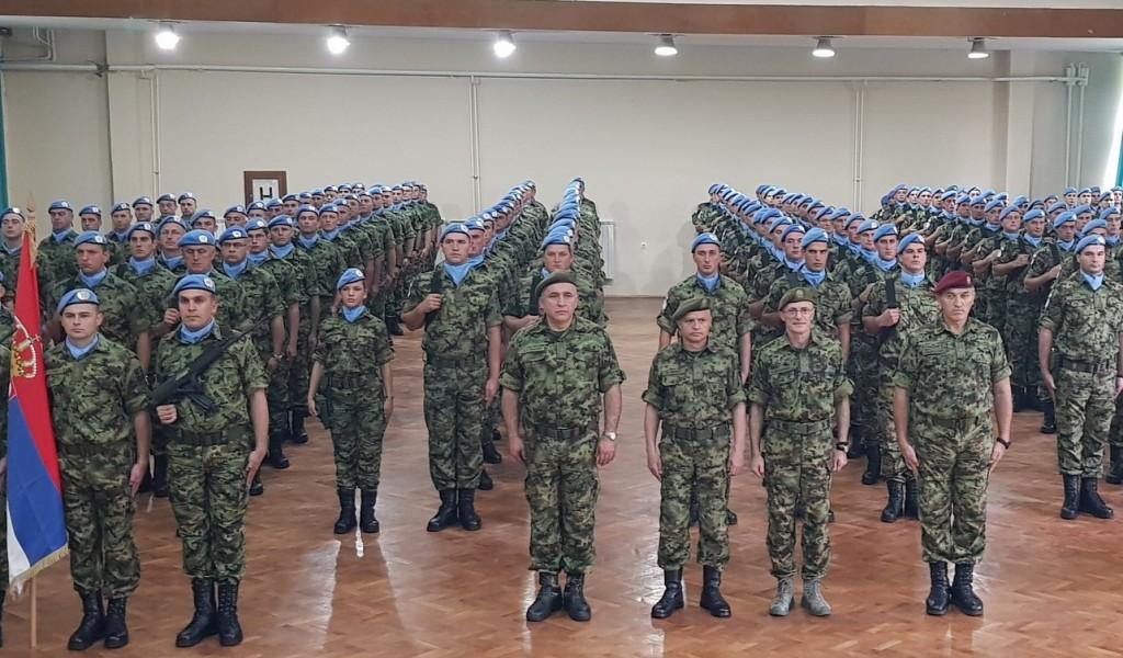 Ispraćaj kontingenta Vojske Srbije u misiju Ujedinjenih nacija u Libanu