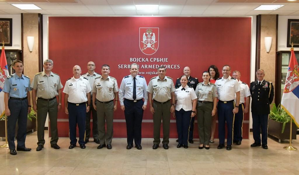Начелник Генералштаба примио делегацију Оружаних снага САД у оквиру иницијативе CAPSTONE