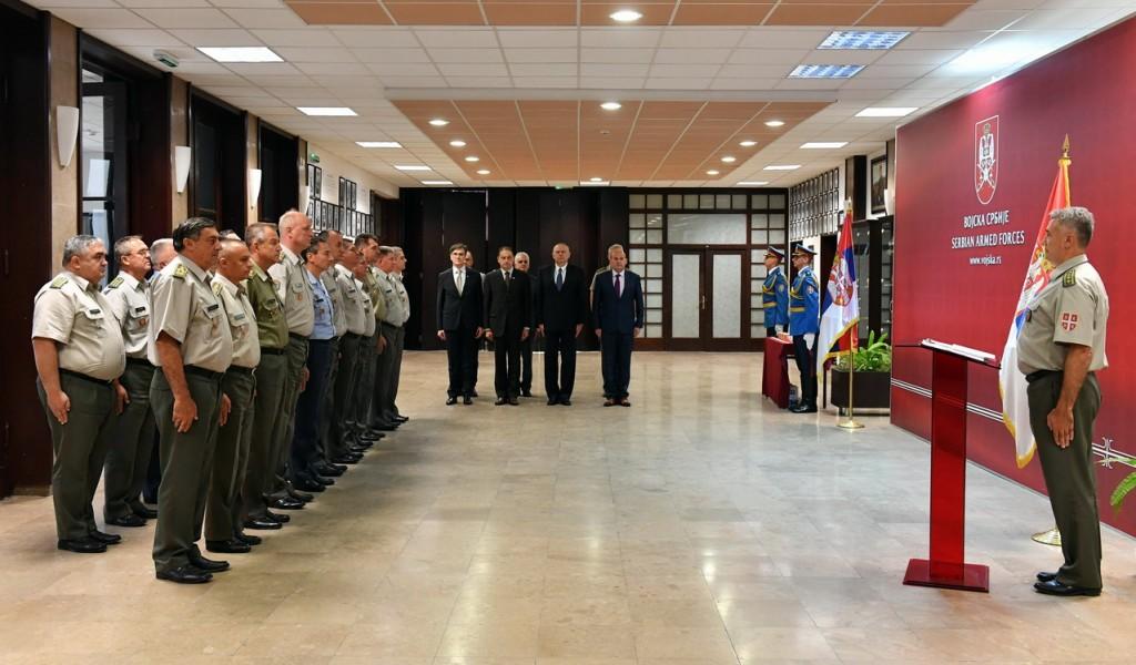 Испраћај високих руководилаца Министарства одбране и Војске Србије