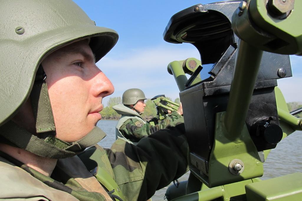 Оспособљавање професионалних војника у Речној флотили