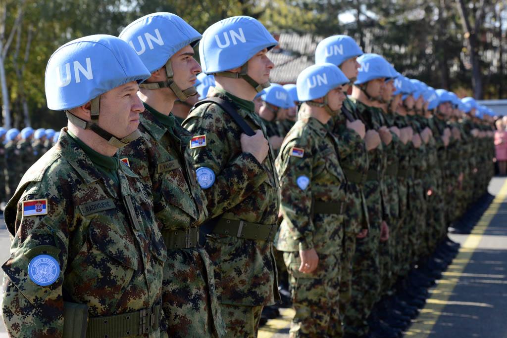 Serbian peacekeepers sending off to Lebanon