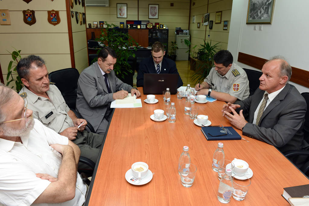 Assistant Minister Jovanovic meets with representatives of the Faculty of Mechanical Engineering and Security Studies