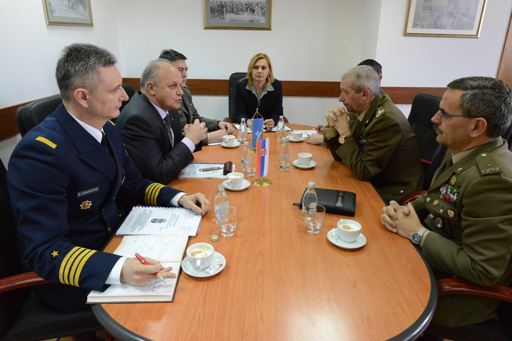 Assistant Minister for Defense Policy received head of the NATO Military Liaison Office