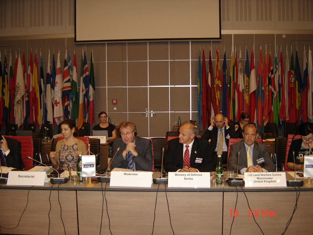 Assistant Minister for Defence Jovanović at the OSCE meeting in Vienna