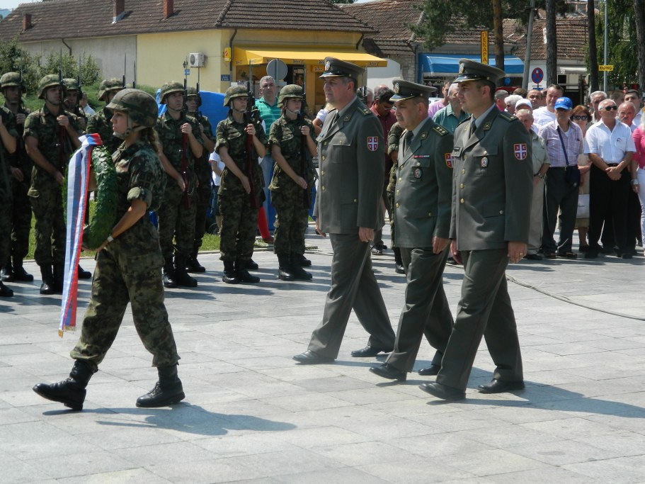 Припадници Министарства одбране и Војске Србије на манифестацији Мишићеви дани