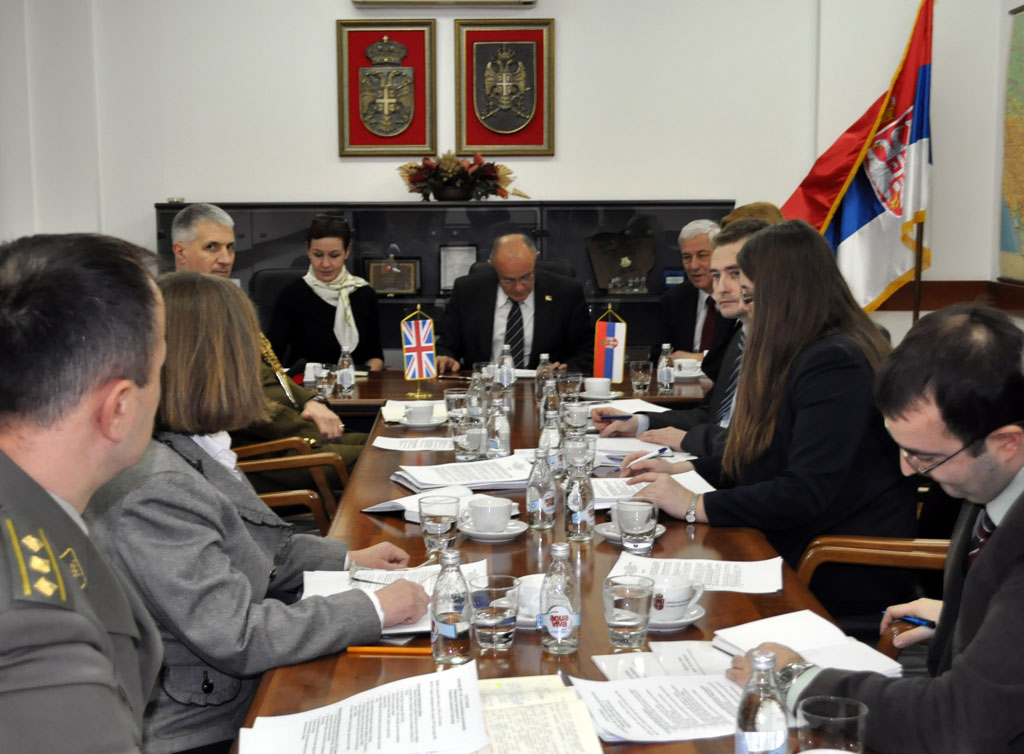 Meeting with representatives of the UK Defence Academy and Transparency International