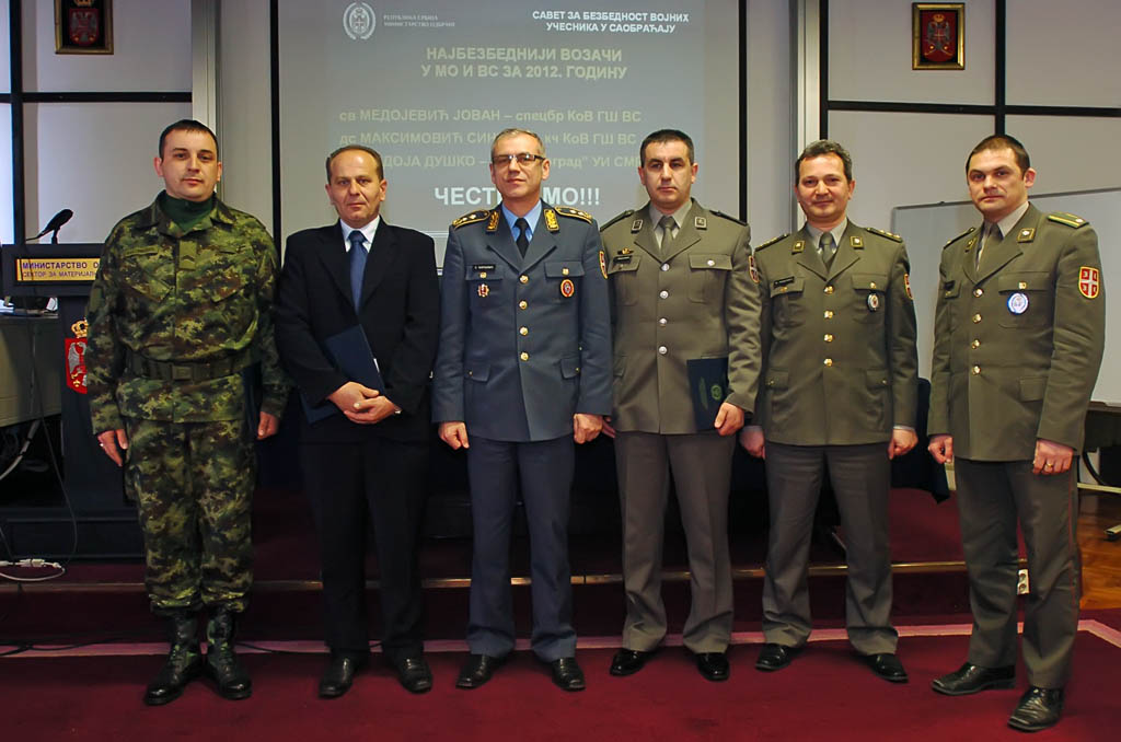 The safest drivers in the Ministry of Defence and the Serbian Armed Forces