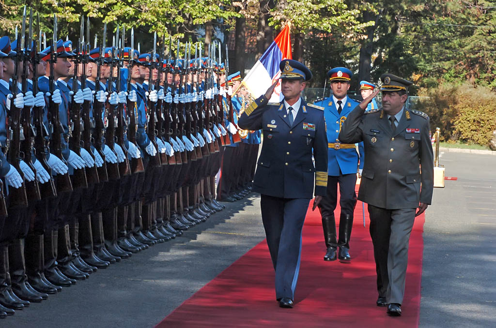 Meeting of Chiefs of Defence of Serbia and Romania