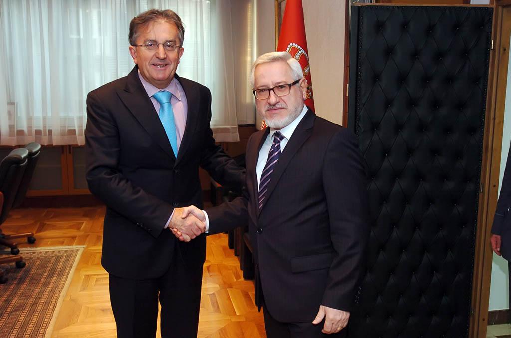 Minister Rodic receives the Ambassador of Bulgaria