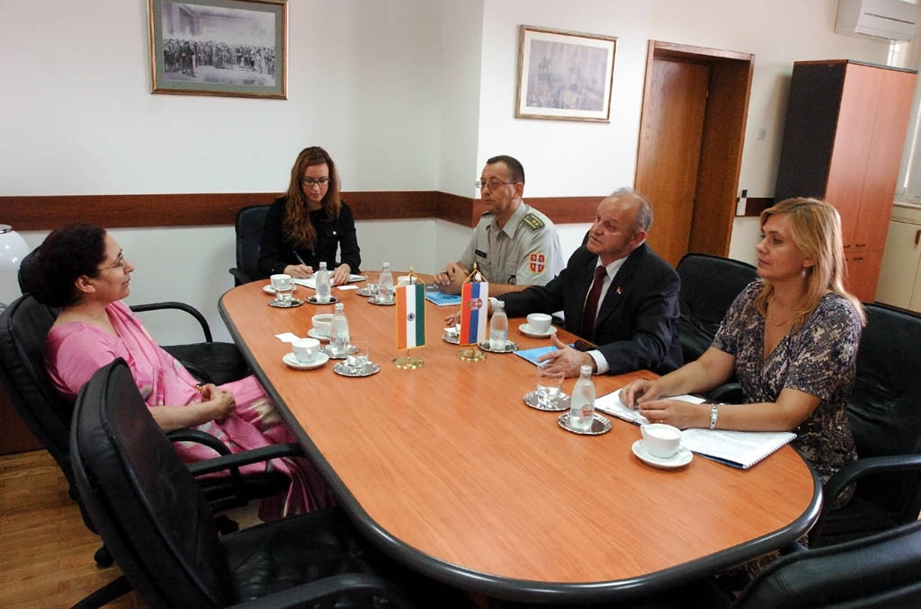 Assistant Minister Jovanovic meets with the newly appointed ambassador of India
