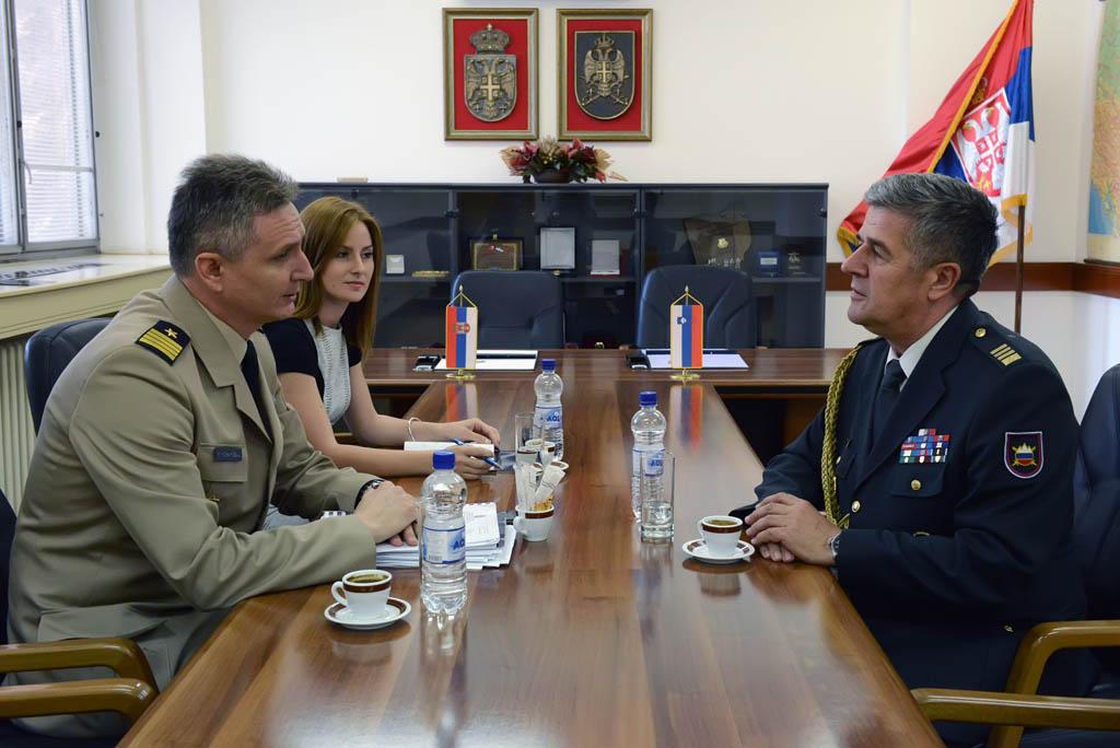 Унапређење сарадње у области одбране са Словенијом