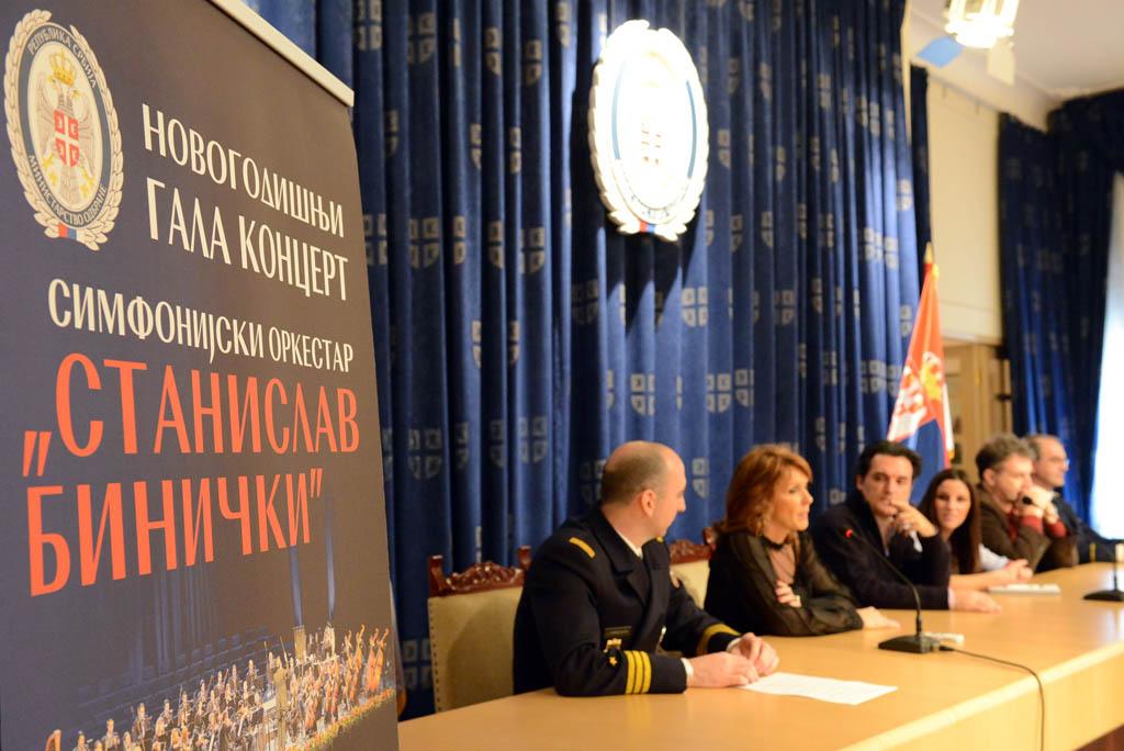 Конференција за новинаре поводом новогодишњег концерта ансамбла Станислав Бинички