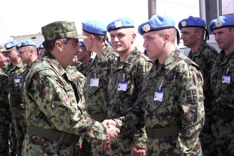 General Diković visits members of the Serbian Armed Forces in the mission in Cyprus