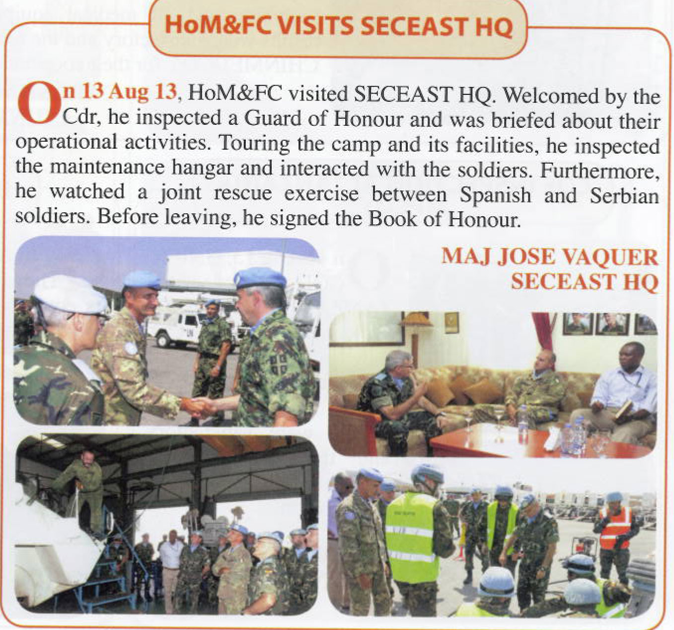 Посета команданта мисије УНИФИЛ Команди сектора Исток магазин Литани