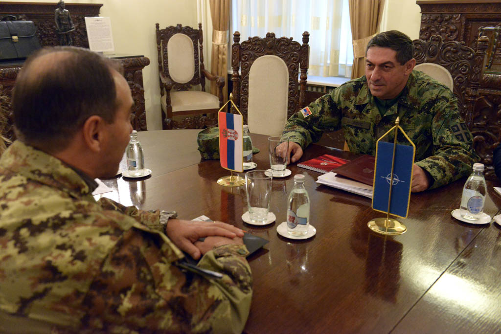 Meeting of Chief of General Staff and KFOR Commander