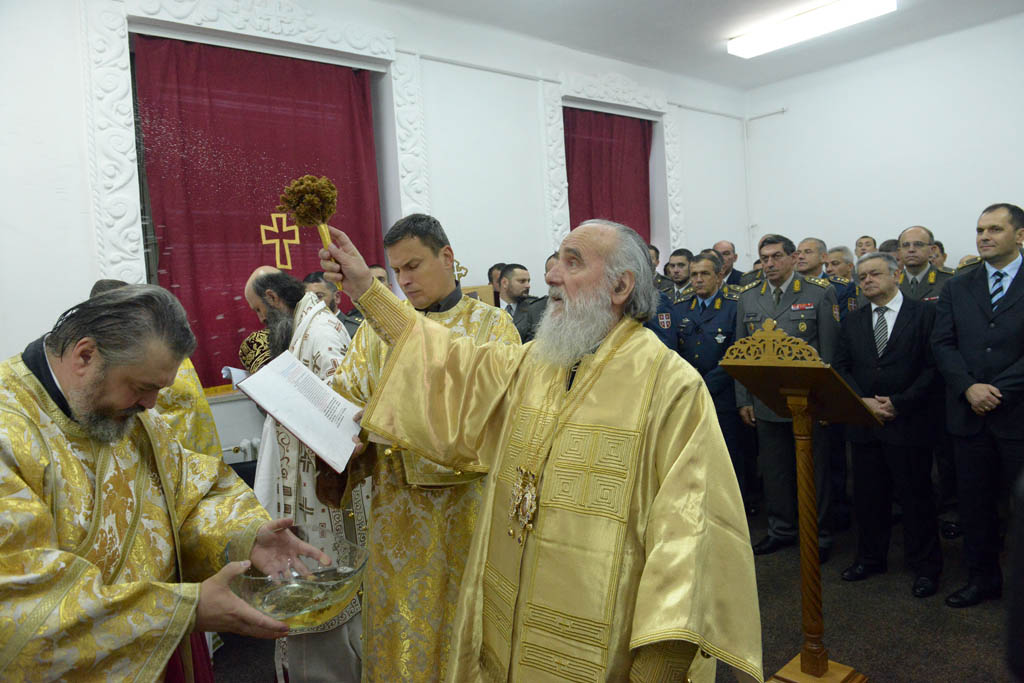 Consecration ceremony at the temple at the General Staff