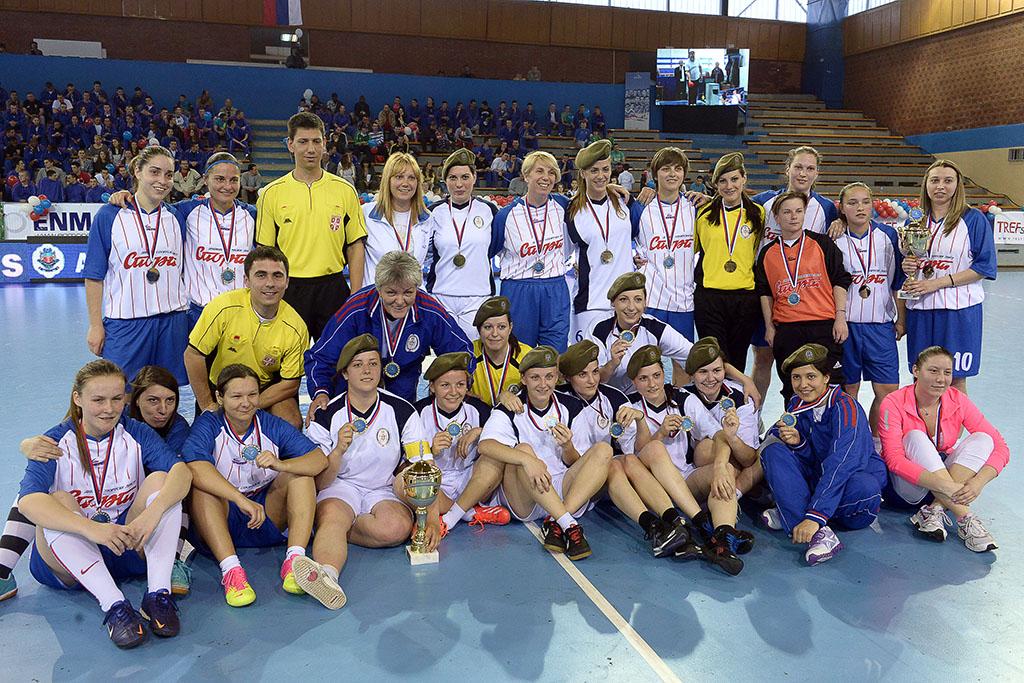 Кадеткиње Војне академије победницe турнира у малом фудбалу Играјмо за 16