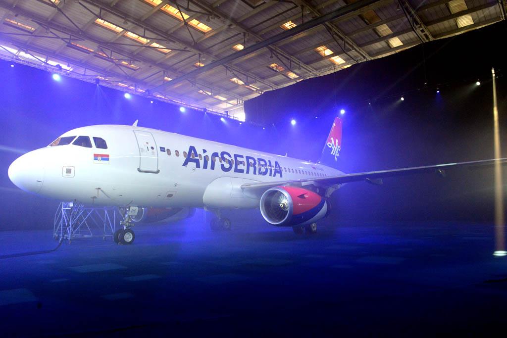 Представљен први авион Ер Србија