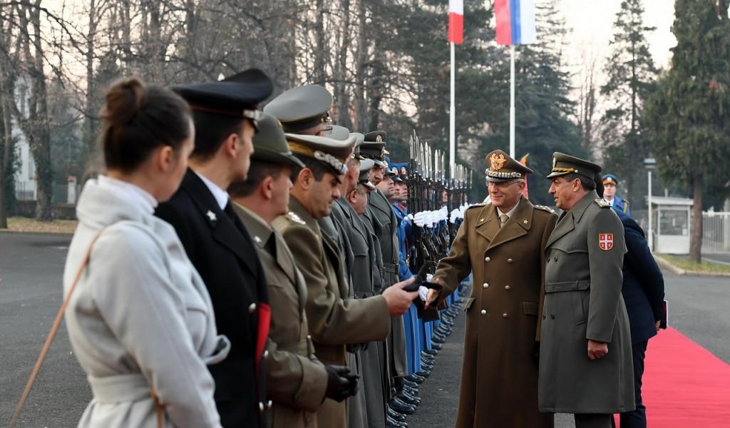 Сусрет начелника генералштабова Србије и Италије