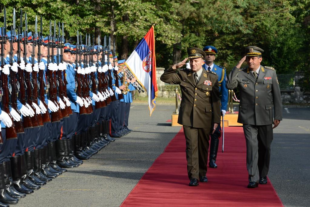 Начелник Генералштаба Оружаних снага Републике Хрватске у посети Војсци Србије