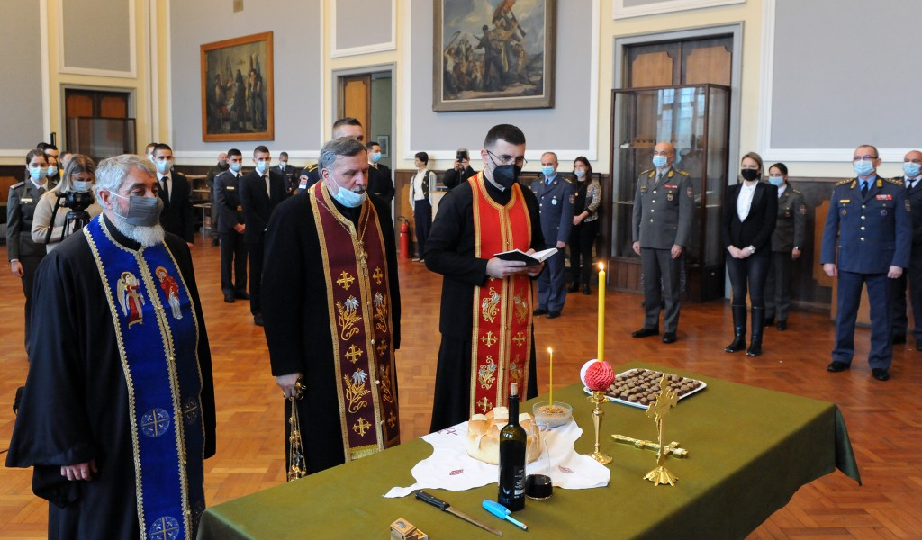 Military schools observe their Patron Saint Day