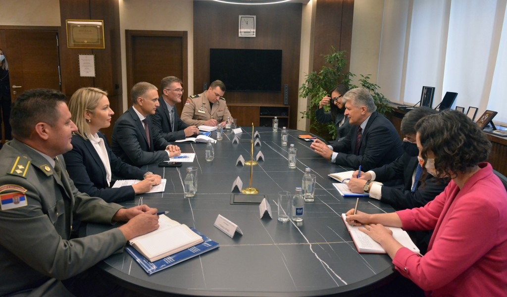 Meeting between Minister Stefanović and United Nations Assistant Secretary General Jenča