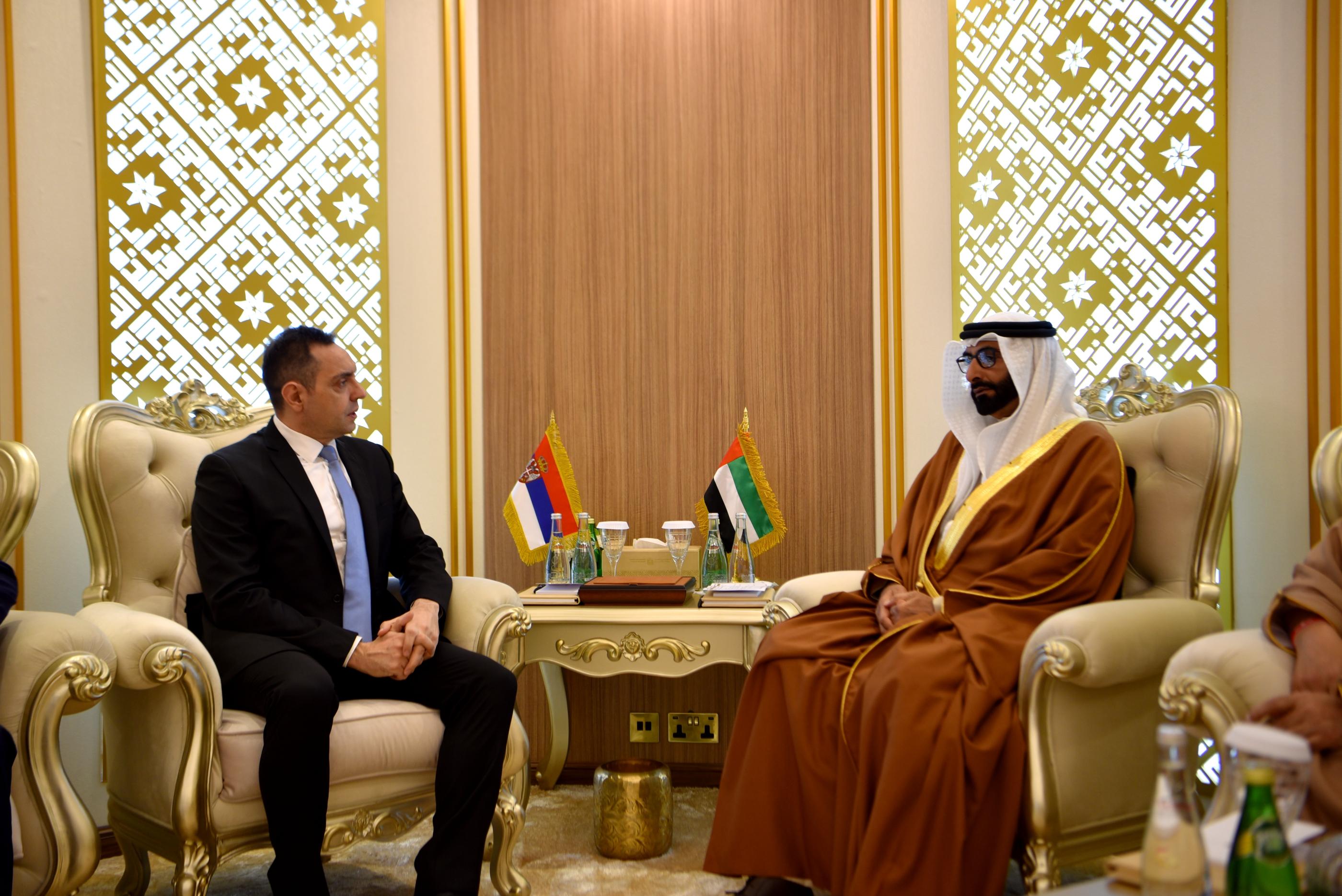 Састанак министра Вулина и државног министра одбране УАЕ