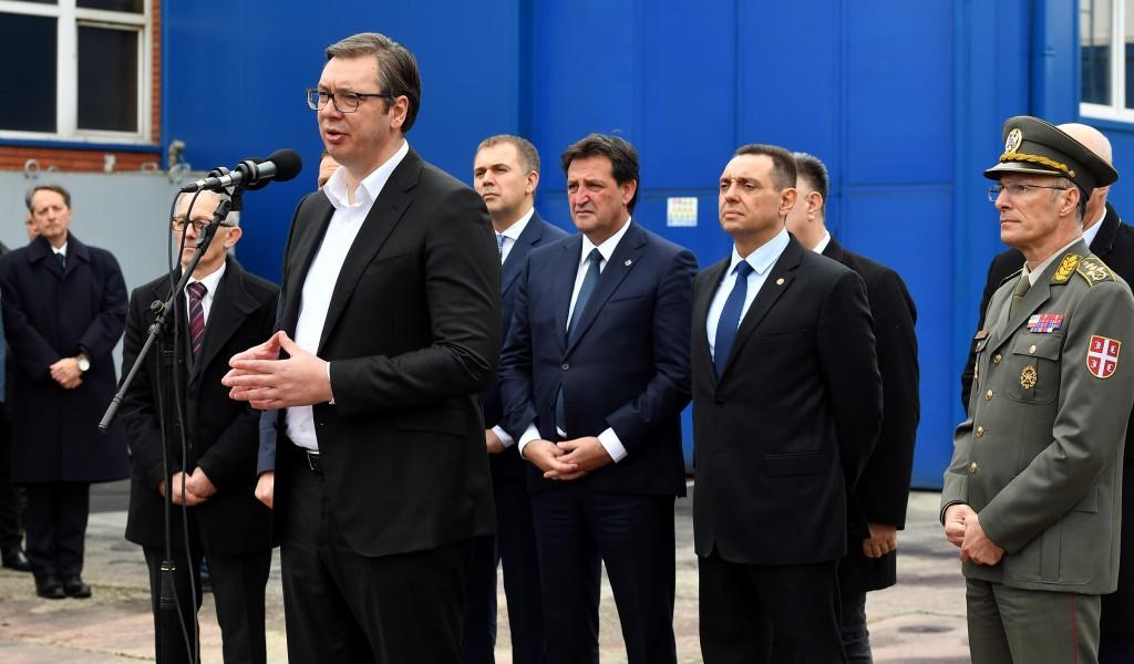 Председник и врховни командант Александар Вучић посетио ваљевски Крушик