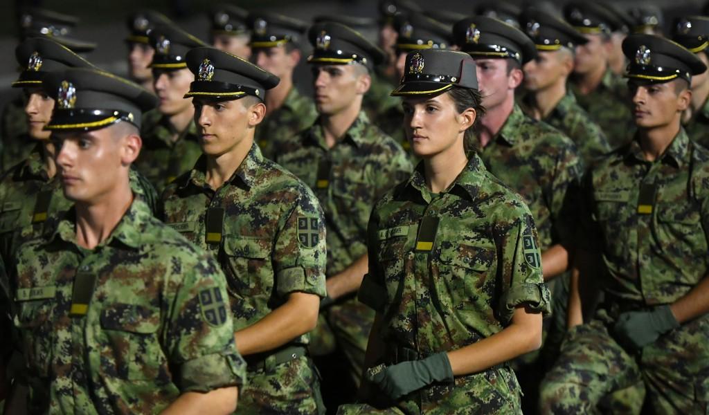 Генерална проба промоције најмлађих официра Војске Србије