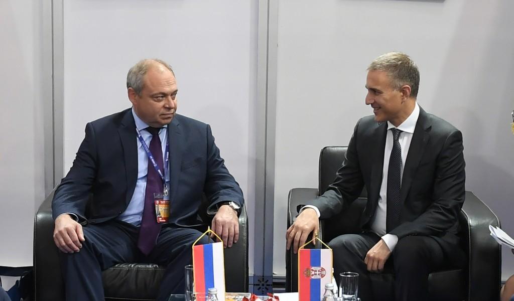 Министар Стефановић разговарао са замеником директора руске Федералне службе за војнотехничку сарадњу
